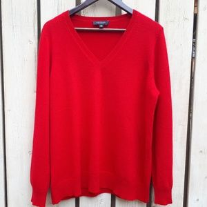 Red Cashmere Sweater by Ann Taylor